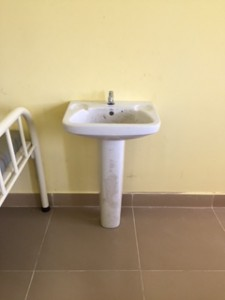 Installation of four hand washing sinks in Paediatric/Medical ward.
